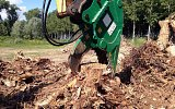 HSC Stump cutter grapples with stubborn rooted stumps